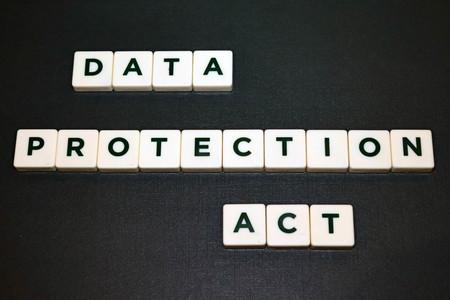 Data Protection Act Board Game Tiles 版權商用圖片
