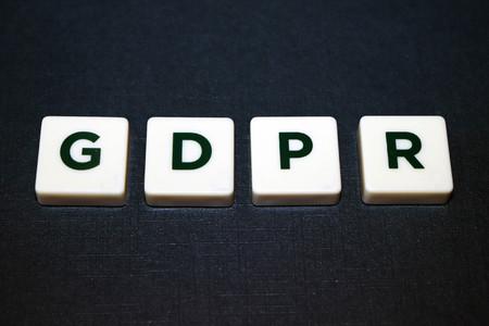 General Data Protection Regulation (GDPR) Board Game Tiles 版權商用圖片
