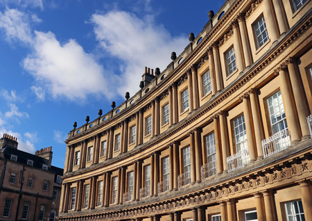 The Circus terraced stone houses, Bath, UK 스톡 콘텐츠