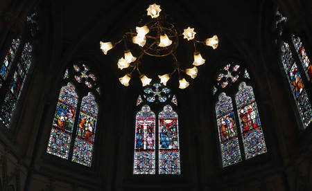 Stained Glass Chapel Windows Imagens