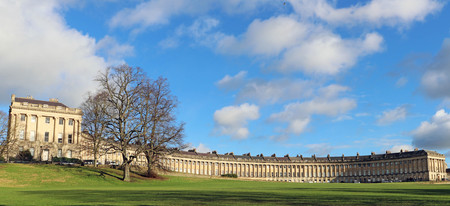 The famous Royal Crescent terraced houses, Bath, UK