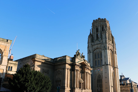 Wills Memorial Building, Bristol, United Kingdom 版權商用圖片