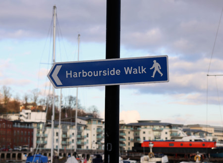 Harbourside Walk Sign Post
