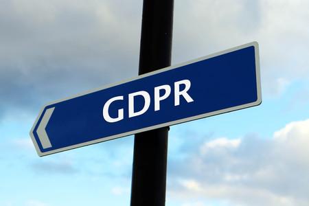General Data Protection Regulation (GDPR) Road Sign Imagens