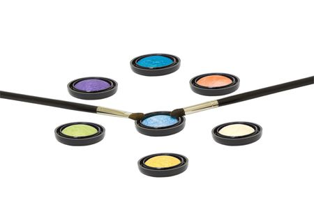 eyeshadow with brush isolated Stock Photo - 6528385