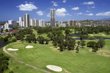 Golfbaan met High Rise Buildings