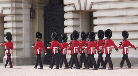 lineage: London - June 21, 2009: Changing of the Grenadier Guards outside of Buckingham Palace on June 21, 2009 in London, United Kingdom. The Grenadier Guards traces its lineage back to the year 1656.