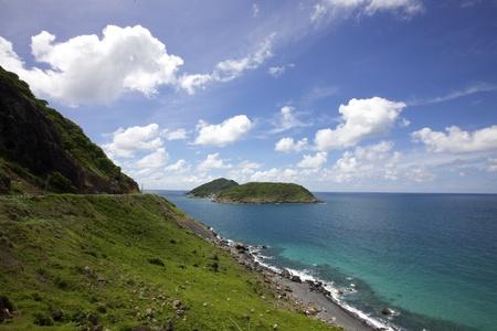 con dao: Scenic drive along coast of Con Dao Island, Vietnam  Stock Photo