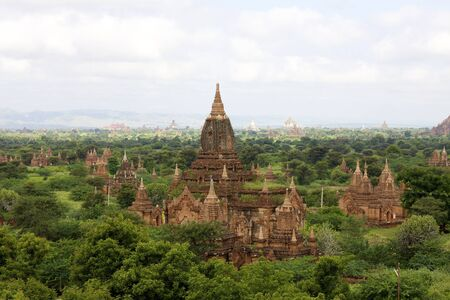 buddhist structures: Temples of Old Bagan, Myanmar Stock Photo