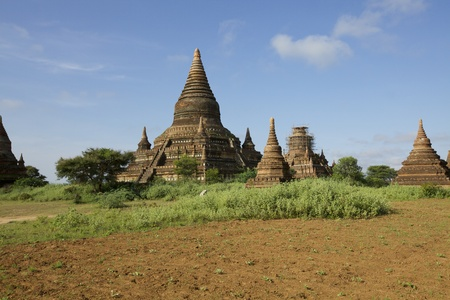Temples of Old Bagan, Myanmar Stock Photo