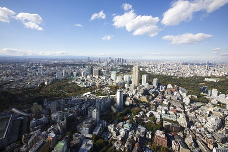 Aerial View of Tokyo, Japan Stock Photo - 11770107