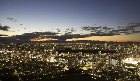 Aerial View of Tokyo Japan at Night