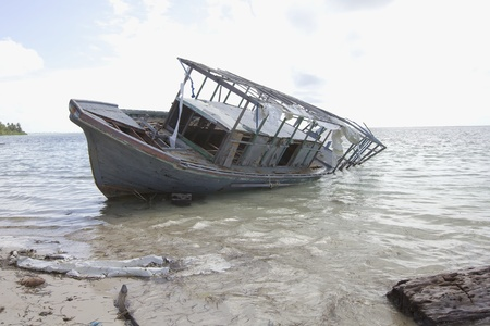 Shipwreck on Beach photo