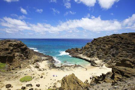 orificio nasal: Halona Blow Hole Beach en Oahu, Hawaii