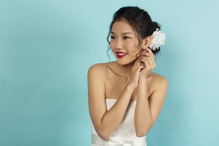 asian bride: Beautiful Asian Bride in Studio