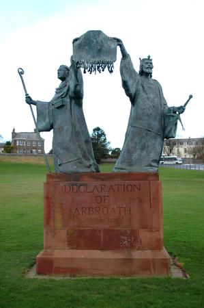 Deklaration der Arbroath-Statue Standard-Bild - 71224631