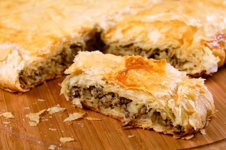 meat pie: Pot pie with liver