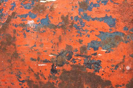 red wall: Background with red old painted metal surface. Abstract empty template Stock Photo
