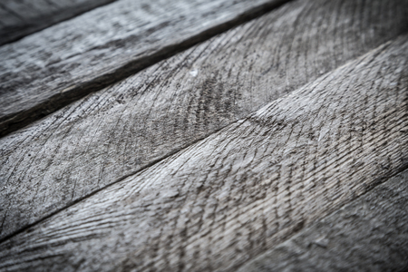 empty table: Gray wood diagonal plank texture. Abstract background, shallow focus Stock Photo