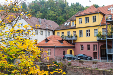 autumn city: Autumn city landscape in Calw, old German town