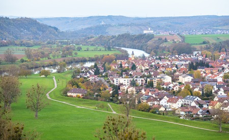 View to Offenau from tower in Bad Wimpfen