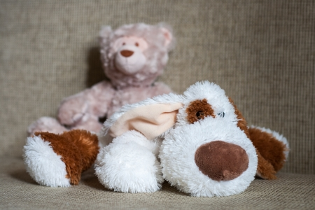 Teddy bear and cubes with number one, two, three, four Stock Photo - 18026416
