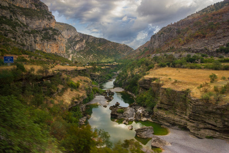 tara: Tara river canyon in Montenegro mountains. Summer Stock Photo