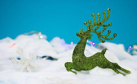 dear: Green dear decoration for christmas
