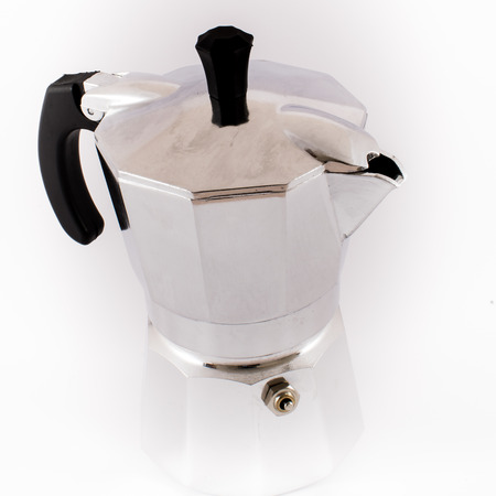Italian coffee maker isolated on white background photo