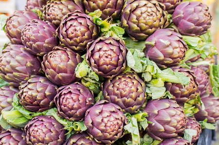 artichokes in bouquet at the local market photo