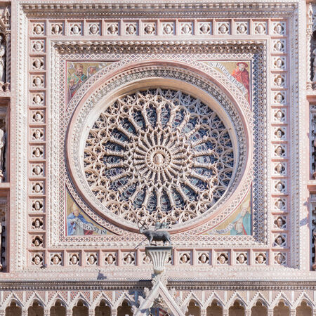 orvieto: Detail of the facade of the Cathedral of Orvieto