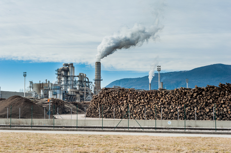 Chemical plant for the processing of chipboard of a furniture factory
