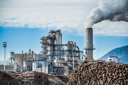 lumber industry: Chemical plant for the processing of chipboard of a furniture factory
