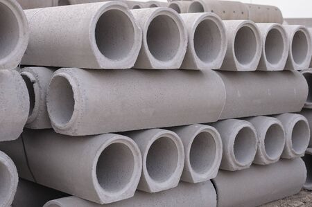 Pipe of cement for the building trade