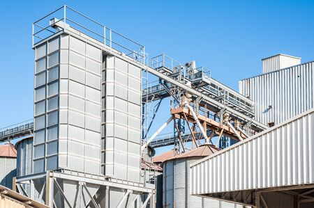 production facility: Storage facility cereals and production of bio gas; silos and drying towers
