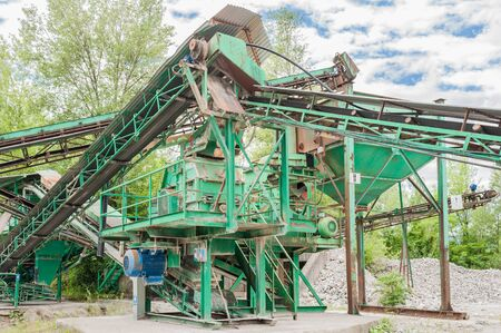 classifier: Machinery of a plant for the extraction of gravel