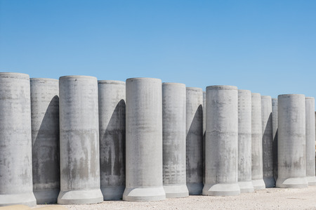 building trade: Pipe of cement for the building trade