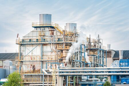 paper mill: Chemical plant of a paper mill