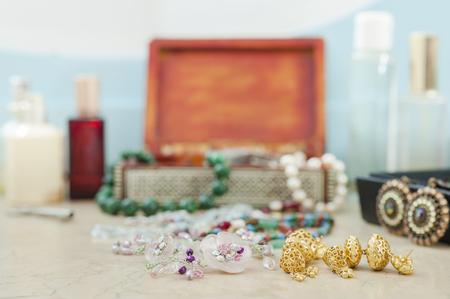 trinkets: Costume jewelry. Earrings, necklaces, bracelets. Accessories for women
