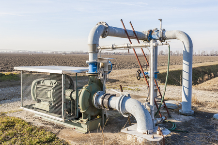 System for pumping irrigation water for agriculture 免版税图像