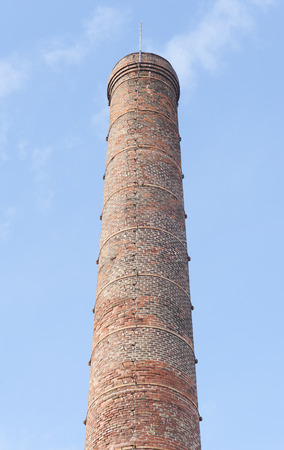 smokestack: Smokestack of an old abandoned industrial complex
