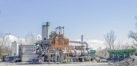 construction material: Gravel washing plant for concrete production and construction activities.