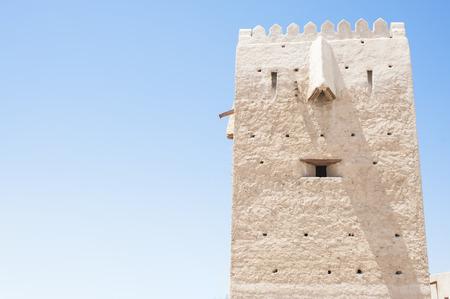al: Al Shandagah Watch Tower in Al Shindagha heritage village , Dubai.