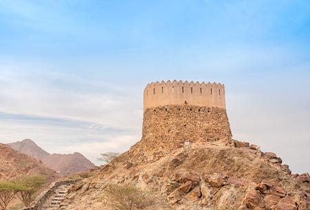 Al Badiyah Tour de guet dans Emirat de Fujairah des Emirats Arabes Unis. Banque d'images - 60953973