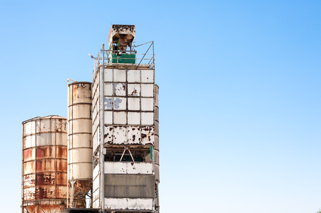 silos: Silos and plant for the production of concrete Stock Photo