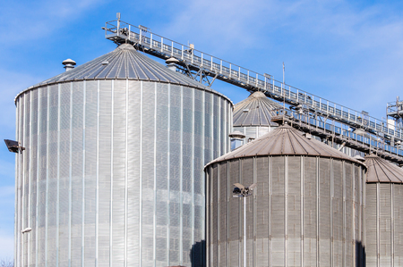 storage facility: Storage facility cereals and production of bio gas; silos and drying towers