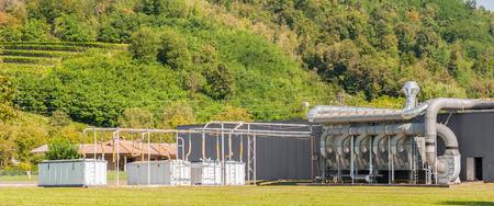 filtración: ventilación de aire de la planta industrial. sistema de filtración de aire.