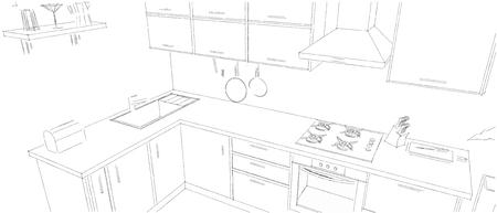 Zeichnen Mit Buntstiften In Den Handen Einer Kuche Lizenzfreie Fotos
