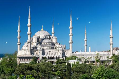 Vue de la Mosquée Bleue Sultanahmet Camii à Istanbul, Turquie