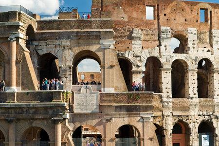 emporium: Tourists visiting the Coliseum, Rome, Italy